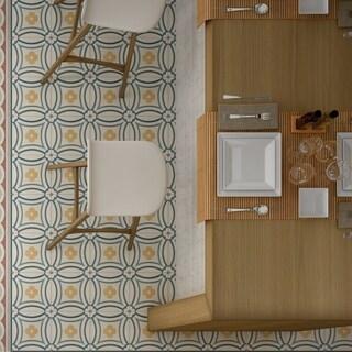 SomerTile 7.875x7.875-inch Piccola Saint Tropez Porcelain Floor and Wall Tile (25 tiles/11.46 sqft.)