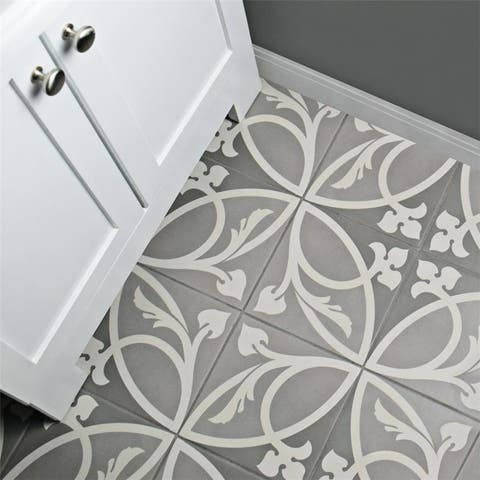SomerTile 7.875x7.875-inch Piccola Liberty Taupe Porcelain Floor and Wall Tile (25 tiles/11.46 sqft.)