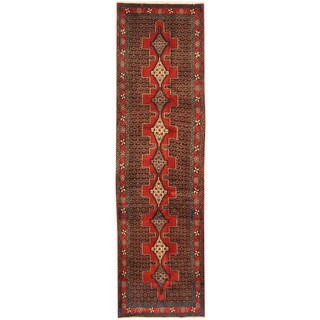 Herat Oriental Persian Hand-knotted Tribal Hamadan Wool Runner (3'1 x 10'10)