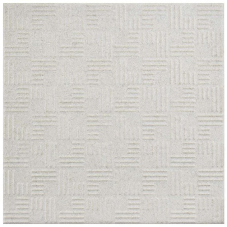 Somertile 6x6-inch Zona White Porcelain Floor and Wall Ti...