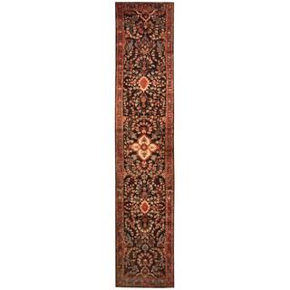 Herat Oriental Persian Hand-knotted Tribal Hamadan Wool Runner (2'9 x 13'7)