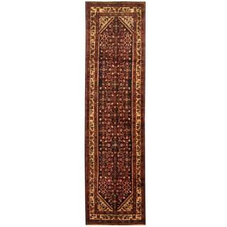 Herat Oriental Persian Hand-knotted Tribal Hamadan Wool Runner - 3'5 x 12'7