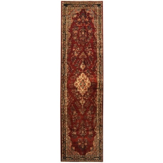 Herat Oriental Persian Hand-knotted Tribal Hamadan Wool Runner (3'3 x 12'6)