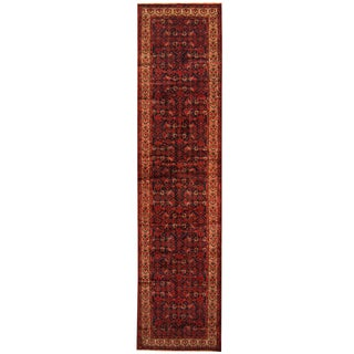 Herat Oriental Persian Hand-knotted Tribal Hamadan Wool Runner (3'4 x 13'8)
