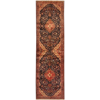 Herat Oriental Persian Hand-knotted Tribal Hamadan Wool Runner (3'5 x 12')