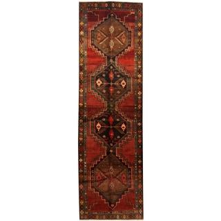 Herat Oriental Persian Hand-knotted Tribal Hamadan Wool Runner (3'9 x 12'8)