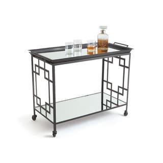 Hip Vintage Blake Bar Cart with Mirrored Shelves