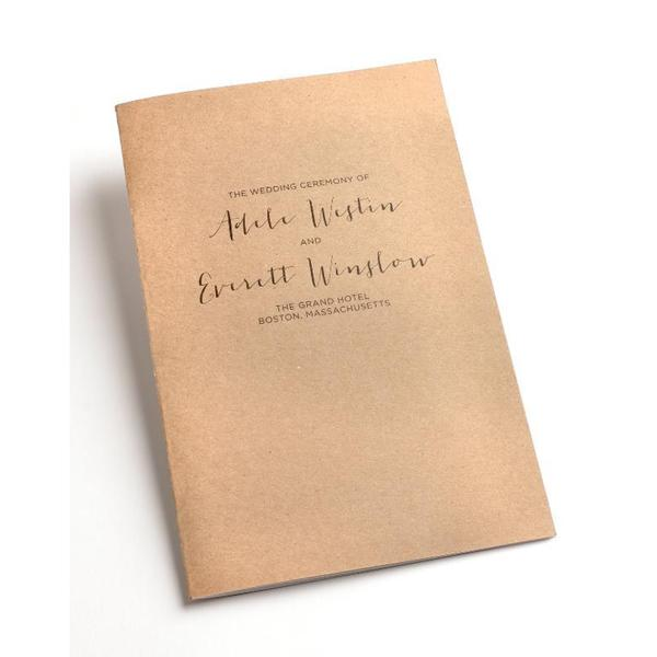 Rustic Kraft Bifold Wedding Program Kit 50 Count