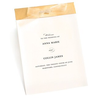 Bride's Gold and Ivory 40-count Program Kit