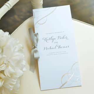 Silver Swirl White Paper Wedding Program Kit (50 Count)|https://ak1.ostkcdn.com/images/products/13190907/P19912246.jpg?impolicy=medium