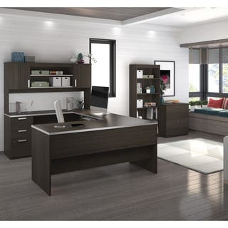 Bestar Ridgeley U-shaped Desk with lateral file and bookcase|https://ak1.ostkcdn.com/images/products/13190916/P19912294.jpg?impolicy=medium