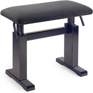 Stagg PBH 780 RWM VBK Matte Rosewood Hydraulic Adjustable Piano Bench with Black Velvet Top