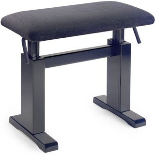 Stagg Matte Black Velvet Hydraulic Adjustable Piano Bench
