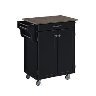 Cuisine Cart in Satin Black Finish by Home Styles
