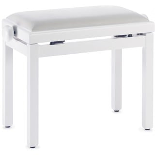 Stagg White Wood/Velvet Adjustable Piano Bench