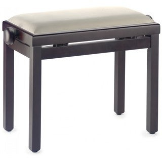 Stagg Rosewood/Beige Wood/Velvet Adjustable Piano Bench