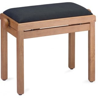Stagg PB39 MPM VBK Adjustable Piano Bench - Matte Maple with Black Velvet Seat Top