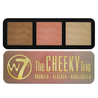 W7 The Cheeky Trio Bronzer, Blush, and Highlight Palette