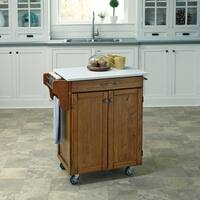 Cuisine Cart in Warm Oak Finish by Home Styles