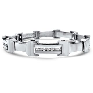 Noori 14k White Gold Men's 1 3/4ct TDW Diamond Bracelet (H-I, I1-I2)