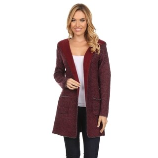 High Secret Women's Acrylic and Wool Thick Knit Reversible Hooded Open-front Cardigan|https://ak1.ostkcdn.com/images/products/13191050/P19912379.jpg?_ostk_perf_=percv&impolicy=medium
