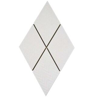 SomerTile 5.5x9.5-inch Rombo White Porcelain Floor and Wall Tile (60 tiles/11.68 sqft.)