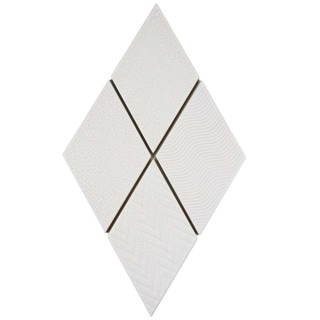 SomerTile 5.5x9.5-inch Rombo White Porcelain Floor and Wall Tile (60 tiles/11.68 sqft.)