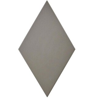 SomerTile 5.5x9.5-inch Rombo Smooth Dark Grey Porcelain Floor and Wall Tile (60 tiles/11.68 sqft.)