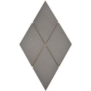 SomerTile 5.5x9.5-inch Rombo Dark Grey Porcelain Floor and Wall Tile (60 tiles/11.68 sqft.)