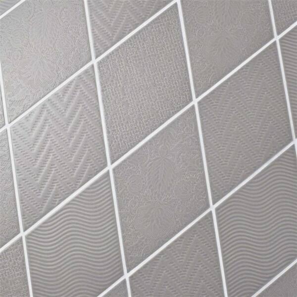 Shop Somertile 5 5x9 5 Inch Rombo Dark Grey Porcelain Floor