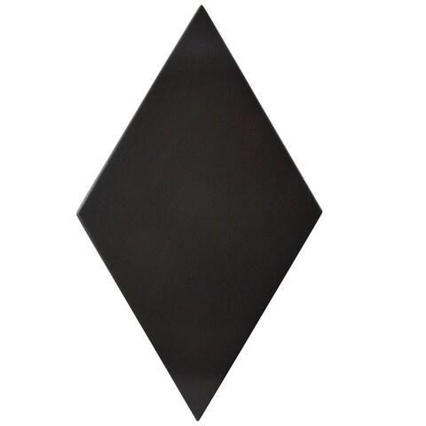SomerTile 5.5x9.5-inch Rombo Smooth Black Porcelain Floor and Wall Tile (60 tiles/11.68 sqft.)