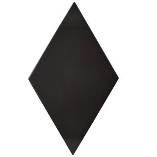 SomerTile 5.5x9.5-inch Rombo Smooth Black Porcelain Floor and Wall Tile (60/Case, 11.68 sqft.)