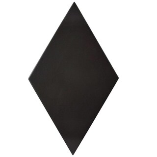 SomerTile 5.5x9.5-inch Rombo Smooth Black Porcelain Floor and Wall Tile (60 tiles/11.68 sqft.)