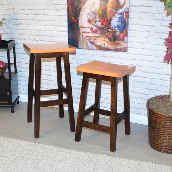 Miraculous Shop Colborn Copper And Black Walnut Kitchen Stool Free Caraccident5 Cool Chair Designs And Ideas Caraccident5Info