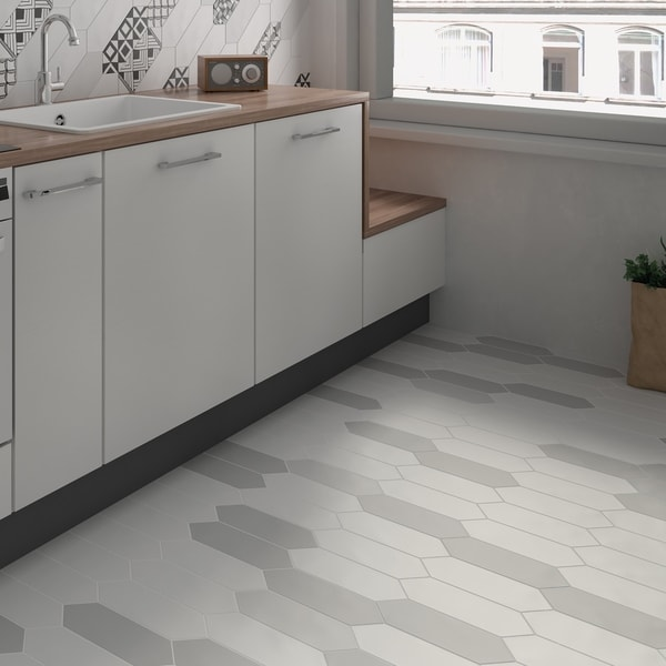 Charming SomerTile 4x11.75 Inch Cometa White Porcelain Floor And Wall Tile (40/