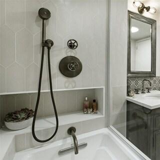 SomerTile 4x11.75-inch Cometa Light Grey Porcelain Floor and Wall Tile (40/Case, 11.81 sqft.)