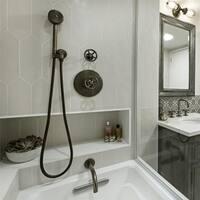 SomerTile 4x11.75-inch Cometa Light Grey Porcelain Floor and Wall Tile (40 tiles/11.81 sqft.)