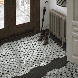 SomerTile 4x11.75-inch Cometa Century Grey Porcelain Floor and Wall Tile (40/Case, 11.81 sqft.)