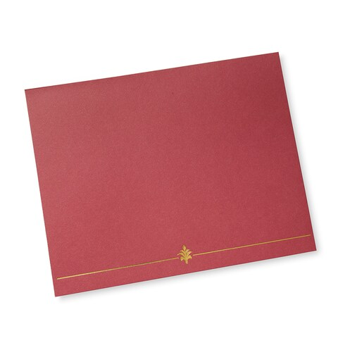 Red Certificate Holders (6 Count)