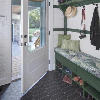 SomerTile 4x11.75-inch Cometa Black Porcelain Floor and Wall Tile (40 tiles/11.81 sqft.)