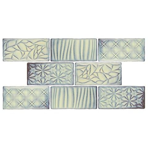 SomerTile 3x6-inch Antiguo Sensations Pergamon Ceramic Wall Tile (8 tiles/1 sqft.)