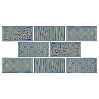 SomerTile 3x6-inch Antiguo Sensations Griggio Ceramic Wall Tile (8/Pack, 1 sqft.)
