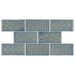 SomerTile 3x6-inch Antiguo Sensations Griggio Ceramic Wall Tile (8 tiles/1 sqft.)