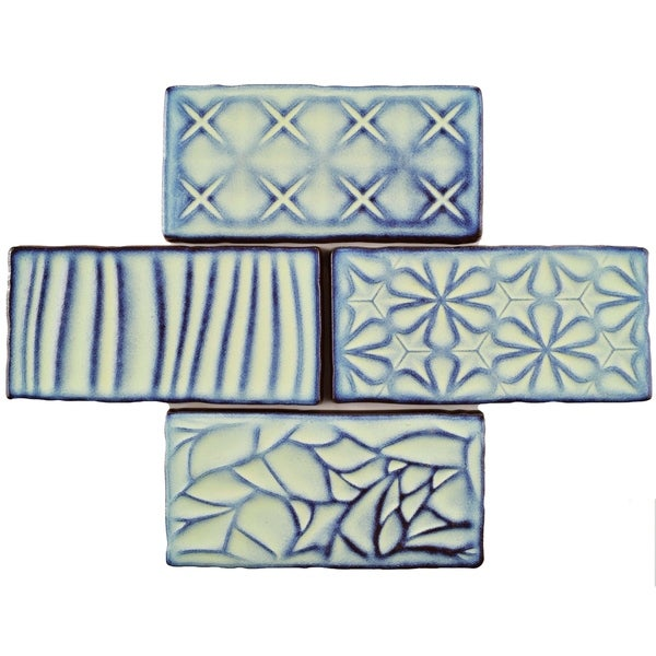 Shop SomerTile Xinch Antiguo Sensations Agua Marina Ceramic Wall - 8 inch square ceramic tiles