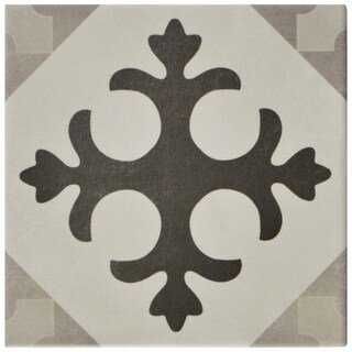SomerTile 5.875x5.875-inch Guild Gris Latin Ceramic Floor and Wall Tile (22/Case, 5.5 sqft.)