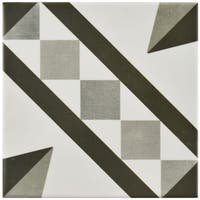 SomerTile 5.875x5.875-inch Guild Antracita Vendome Ceramic Floor and Wall Tile (22 tiles/5.73 sqft.)