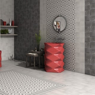 SomerTile 5.875x5.875-inch Guild Antracita Marais Ceramic Floor and Wall Tile (22/Case, 5.5 sqft.)