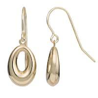 Fremada 14k Yellow Gold High Polish Oval Drop Earrings