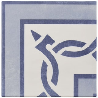 SomerTile 5.875x5.875-inch Guild Azul Esquina Ceramic Floor and Wall Tile
