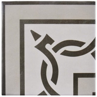 SomerTile 5.875x5.875-inch Guild Gris Esquina Ceramic Floor and Wall Tile